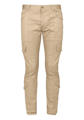 Slim Cotton Gabardine Cargo Pants