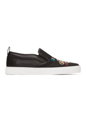 Gucci Black Dublin Slip-On Sneakers