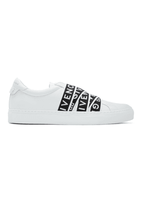 Givenchy White and Black 4G Webbing Urban Street Sneakers
