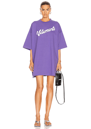 VETEMENTS Milka Tee in Lilac - Purple. Size S (also in ).