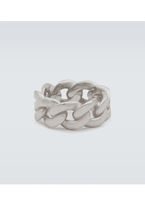 Silver curb chain ring