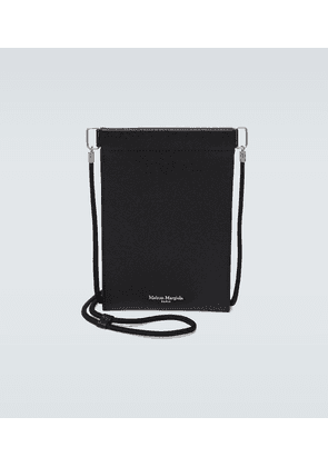 Grainy embossed leather iPhone pouch