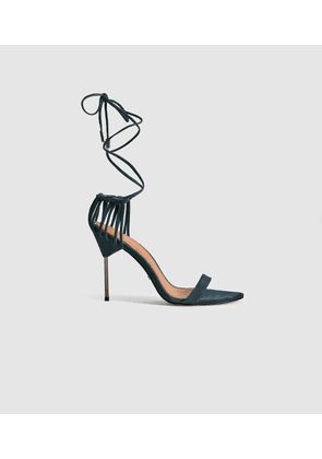 Reiss Zhane - Suede Strappy Wrap Sandals in Ink, Womens, Size 4