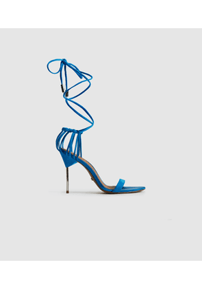 Reiss Zhane - Suede Strappy Wrap Sandals in Cobalt Blue, Womens, Size 4