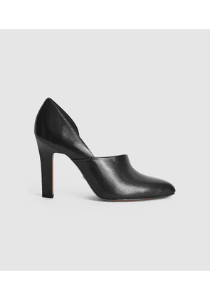 Reiss Amelie - Leather High Heels in Black, Womens, Size 4