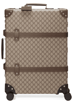 Gucci x Globe-Trotter medium GG suitcase - Brown