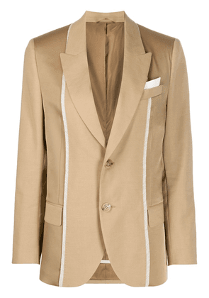 Neil Barrett contrast trim single-breasted blazer - NEUTRALS