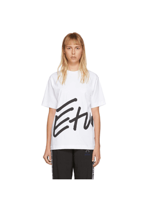 Etudes White Wonder Sign T-Shirt