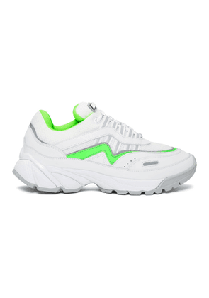 Axel Arigato White and Green Demo Sneakers