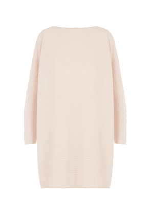 Cashmere Long Slim-Sleeve Kaftan Sweater