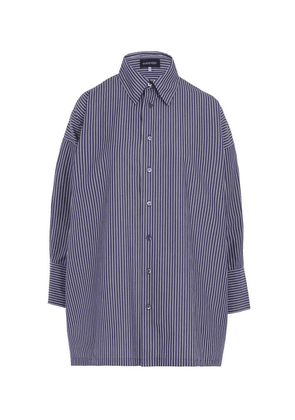 A-Line Striped Cotton Shirt