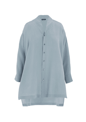 Drop-Back Silk Shirt