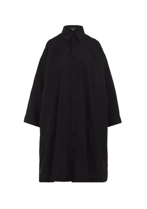 A-Line Cotton Shirt-Dress