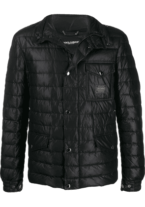 Dolce & Gabbana quilted padded down jacket - Black