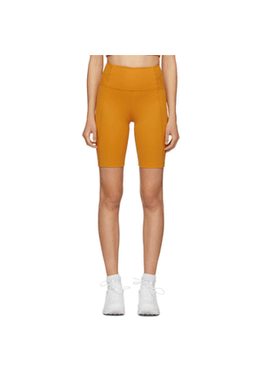 Girlfriend Collective Yellow High-Rise Biker Shorts