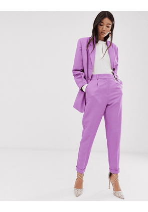ASOS DESIGN dream tapered suit trousers in lilac-Purple