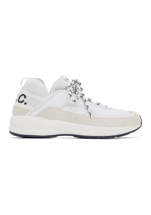 A.P.C. White and Grey Run Around Sneakers