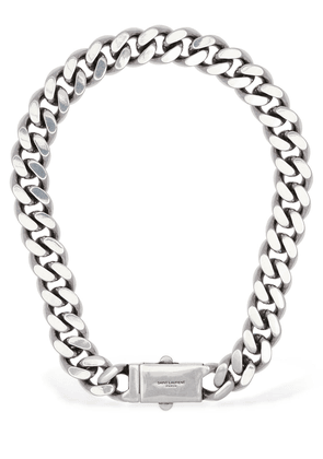 Logo Buckle Chunky Chain Necklace