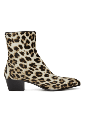Christian Louboutin Black and White Pony Jolly Boots