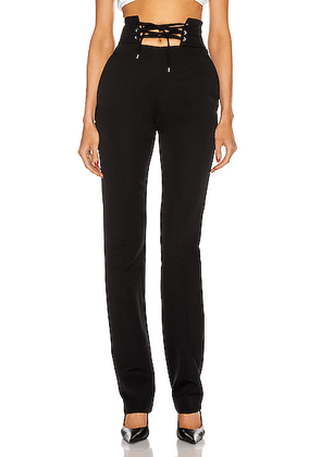 ATTICO High Waisted String Belt Pant in Black - Black. Size 36 (also in 38).