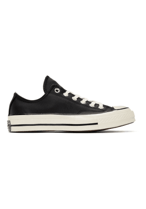 Converse Black Leather Chuck 70 OX Sneakers