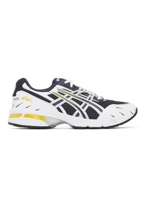 Asics Navy and Silver GEL-1090 Sneakers