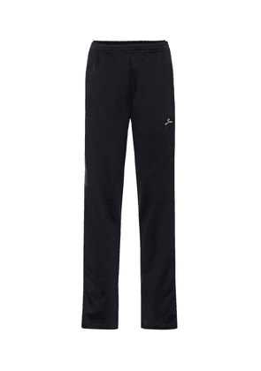 Cotton-blend jersey trackpants