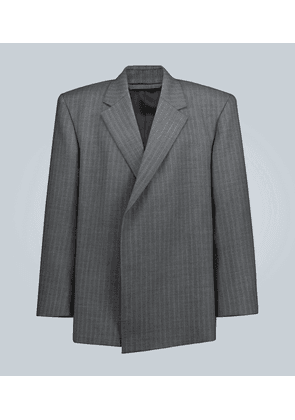 Shifted wool blazer