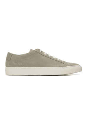 Common Projects Grey Suede Achilles Low Sneakers