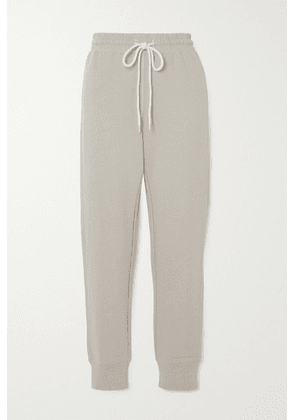 Varley - Alice Cotton-blend Jersey Track Pants - Gray
