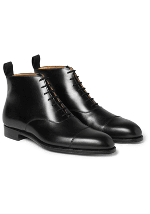 George Cleverley - William Cap-toe Cotswold Grain Leather Boots - Black