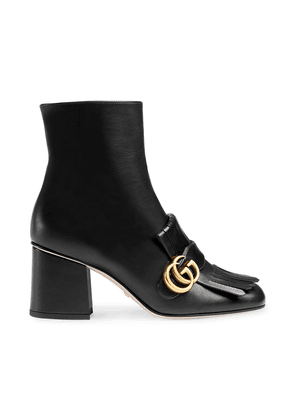 Gucci Black Marmont 70 Leather ankle boots