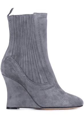 Alchimia Di Ballin ribbed wedge ankle boots - Grey