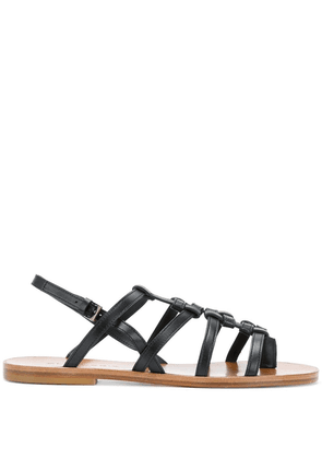 Clergerie flat strappy sandals - Black