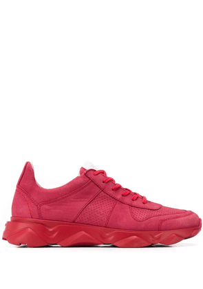 Lloyd perforated lace-up sneakers - Red