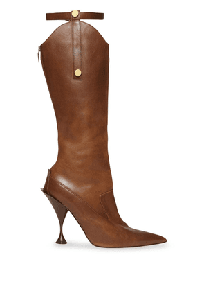 Burberry stud detail knee-length boots - Brown
