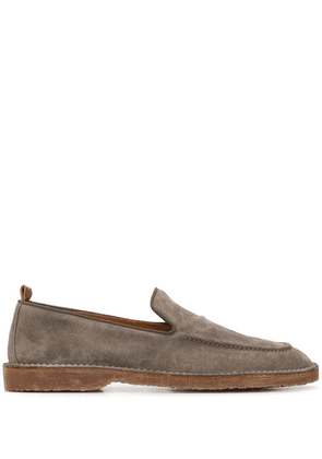 Buttero almond-toe suede loafers - Grey