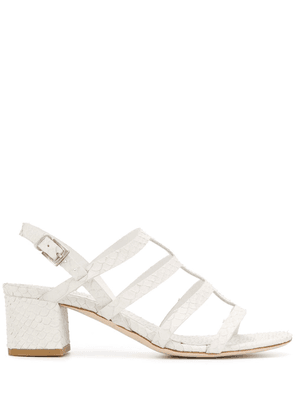Del Carlo strappy 50mm sandals - White