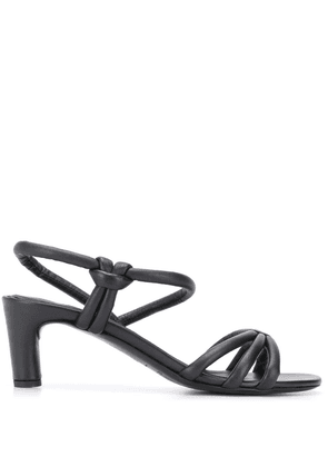 Del Carlo strappy design sandals - Black