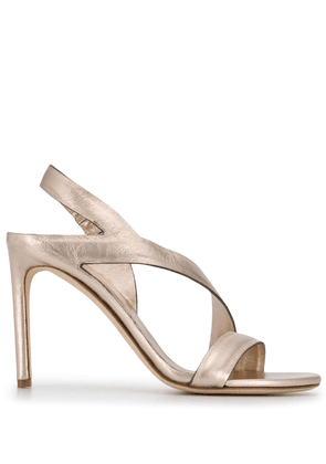Del Carlo cross strap sandals - GOLD