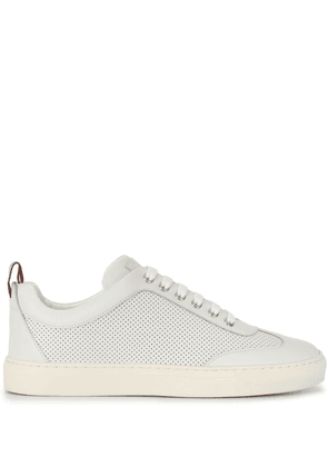 Bally perforated low-top sneakers - White