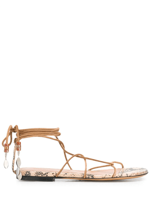 Isabel Marant Jindia ankle-tie sandals - Brown