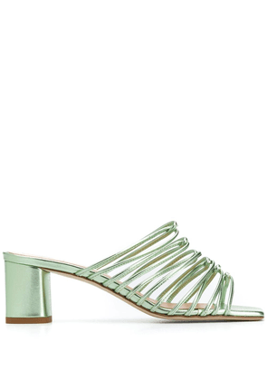 aeyde Pearl 65mm slip-on sandals - Green
