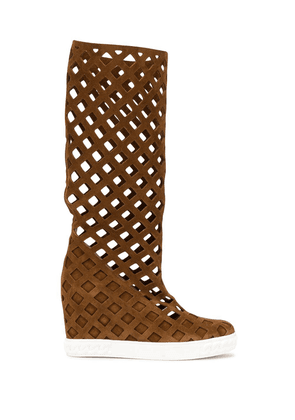 Casadei Lady Web mid-calf boots - Brown