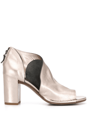 Del Carlo 90mm open toe boots - GOLD