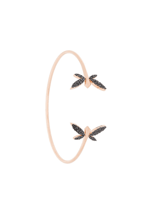 Anapsara 18kt rose gold double dragonfly diamond cuff