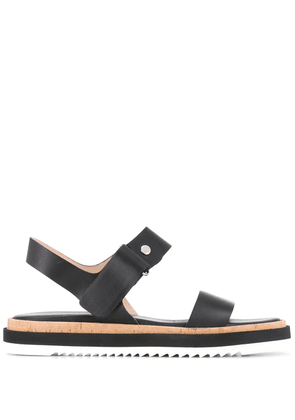 AGL contrast panel strappy sandals - Black