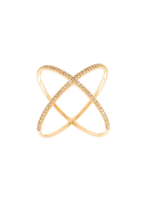 Eva Fehren 18kt rose gold X diamond ring