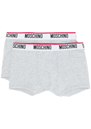 Moschino twin pack logo band boxers - Grey