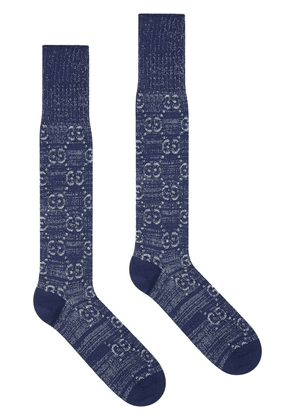 Gucci GG pattern socks - Blue